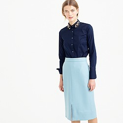 Collection perfect shirt with embellished collar
