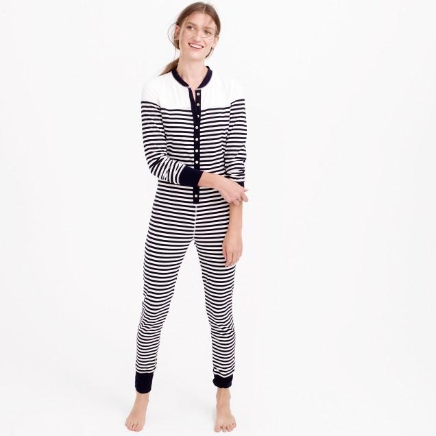 Sailor-striped union suit