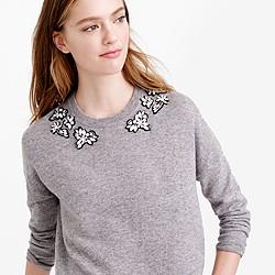 Opal-embellished sweater