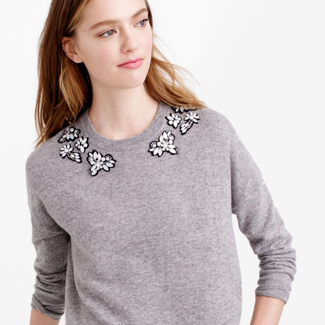 Opal-embellished sweater