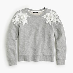 Sweatshirt with floral appliqué