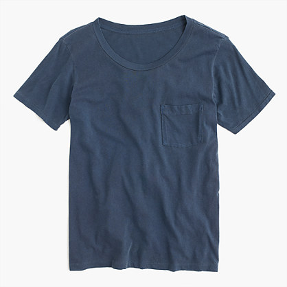 Garment-dyed pocket T-shirt