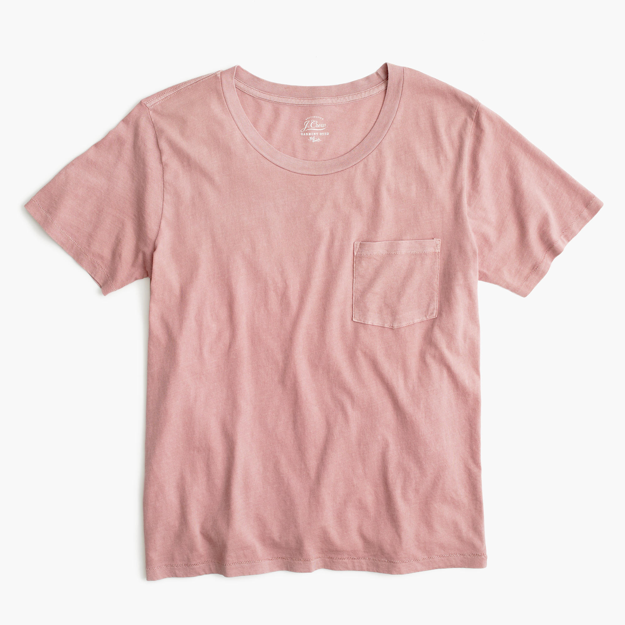 garment dyed pocket t shirt j crew