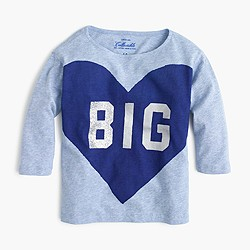Girls' big heart T-shirt