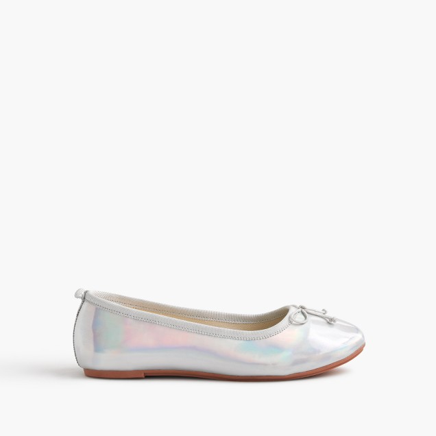 Girls' iridescent ballet flats