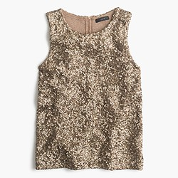 Collection sequin tank top