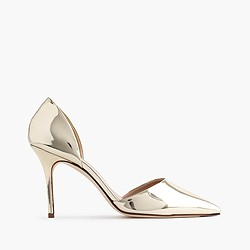 Elsie metallic d'Orsay pumps