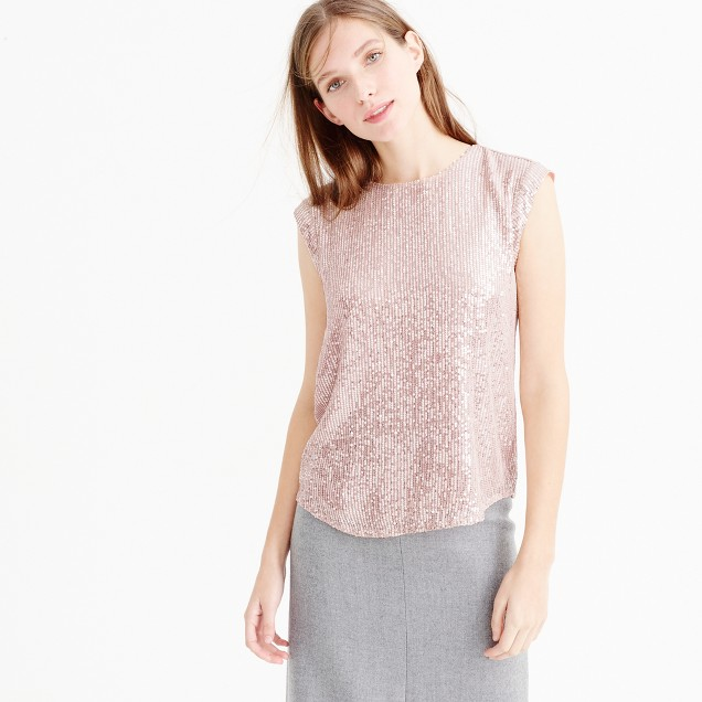 Holiday party top in sequin