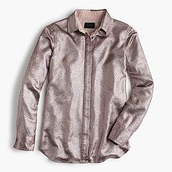 Collection French lamé metallic blouse