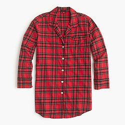 Classic tartan flannel nightshirt