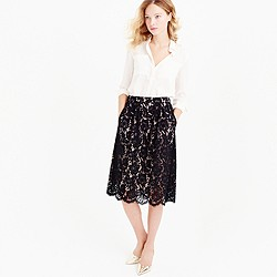 Contrast floral lace skirt