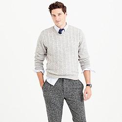 Italian wool cable sweater