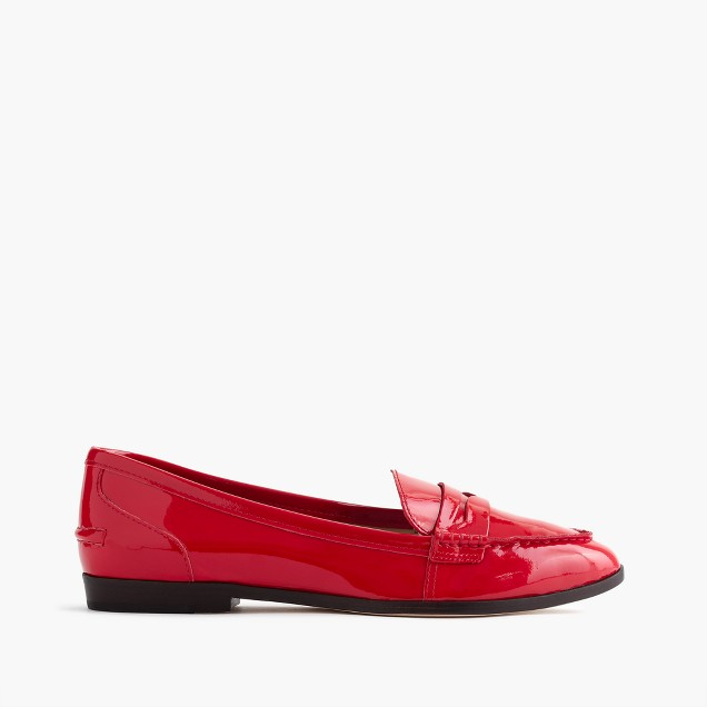 Collins patent loafers