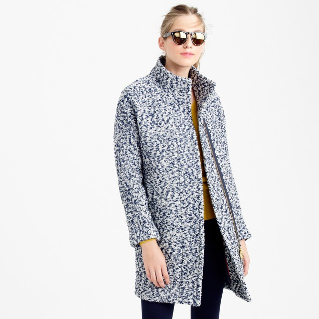 Bouclé cocoon coat
