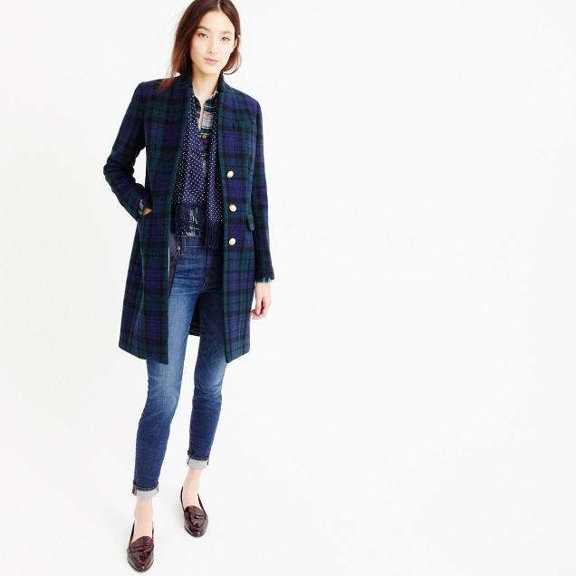 Regent topcoat in Black Watch flannel