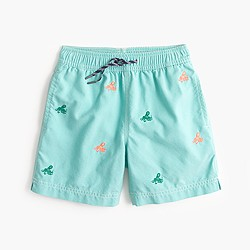 Boys' critter swim trunk in octopus