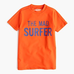 Boys' short-sleeve mad surfer rash guard
