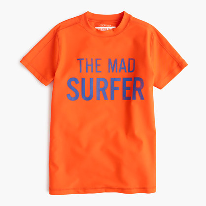 Boys' short-sleeve mad surfer rash guard