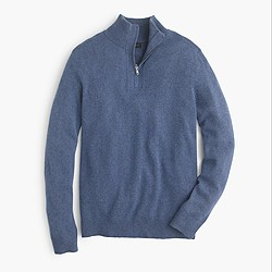 Softspun half-zip shoulder-patch sweater