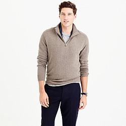 Softspun half-zip shoulder-patch sweater