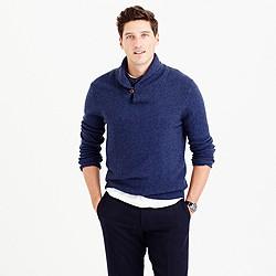 Softspun shawl-collar sweater