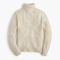 Wool guernsey turtleneck sweater