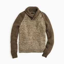 Italian wool shawl-collar sweater