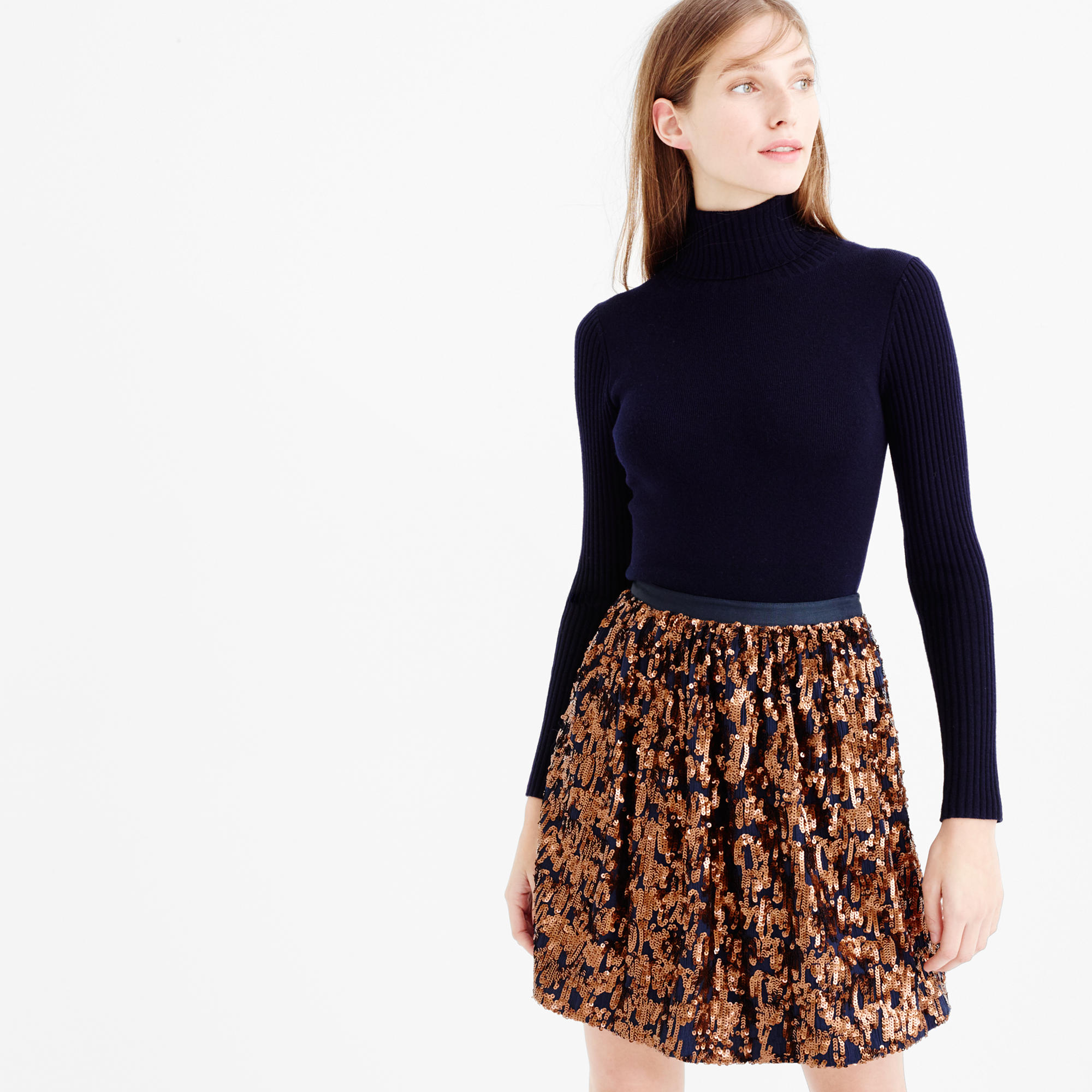 Abstract sequin skirt : | J.Crew