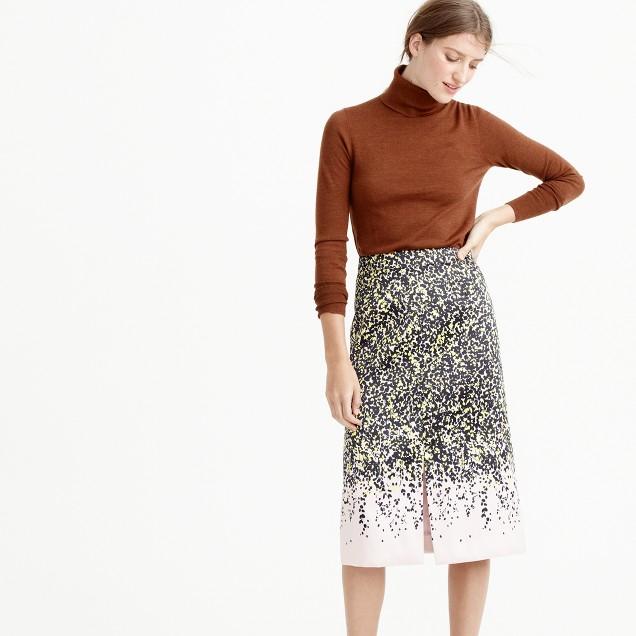 A-line midi skirt in petal confetti : Women A-line/Midi | J.Crew
