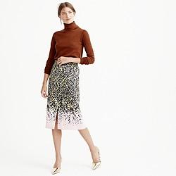 A-line midi skirt in petal confetti