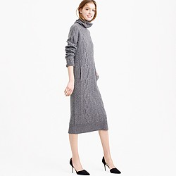 Collection cable sweater-dress