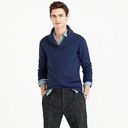 Slim softspun shawl-collar sweater