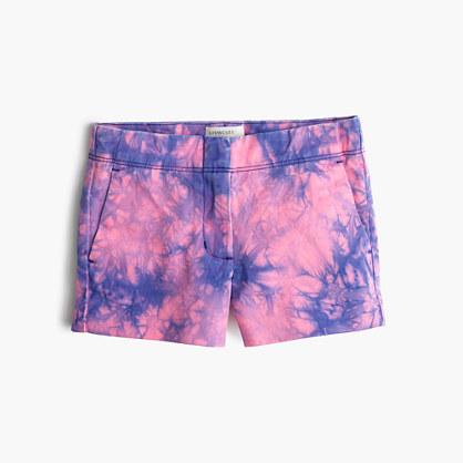 Girls Frankie short in tie dye novelty #0: E5156 PK5491 $pdp fs418$