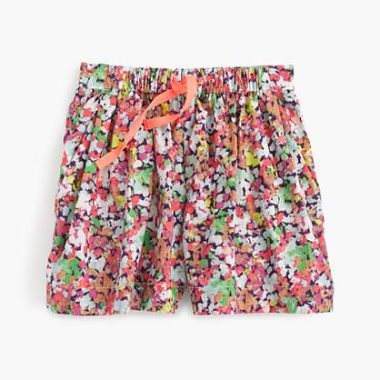 Girls' skirty short in mini floral