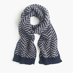 Wide chevron scarf
