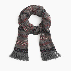 Lambswool Fair Isle scarf