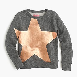 Girls' giant star sweatshirt