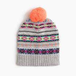 Girls' Fair Isle beanie
