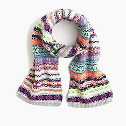 Girls' Fair Isle scarf