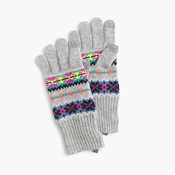 Girls' Fair Isle gloves