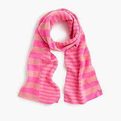 Girls' cashmere striped scarf