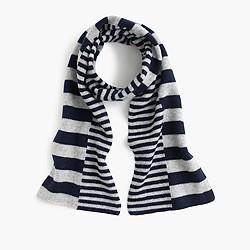 Girls' cashmere striped scarf