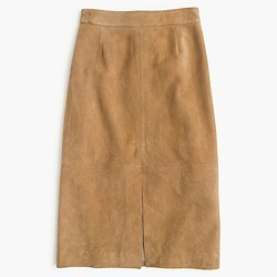 Collection A-line midi skirt in suede