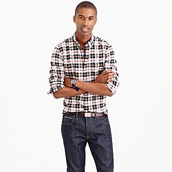Slim vintage oxford shirt in Kelly plaid