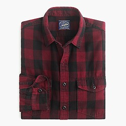 Midweight flannel shirt in Batavia plaid