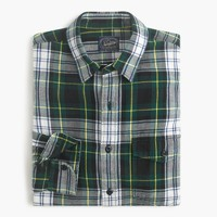 Midweight flannel shirt in Archibald plaid