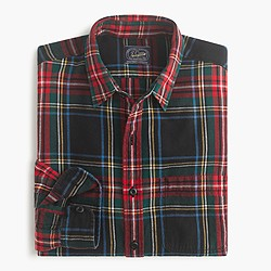 Midweight flannel shirt in Stewart plaid