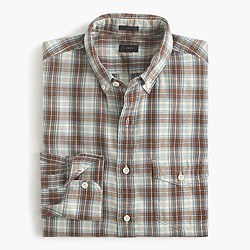 Slim brushed twill shirt in Thomas plaid