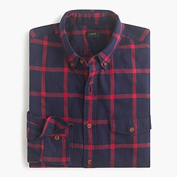 Slim brushed twill shirt in Kory check