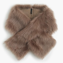 Toscana shearling stole scarf